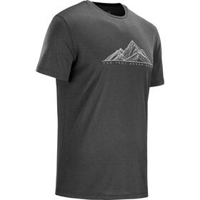 Salomon Agile Graphic Camiseta Hombre, black/heather